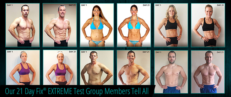 21 Day Fix Extreme Test Group Results