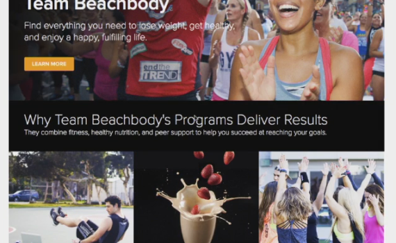 The new Team Beachbody website