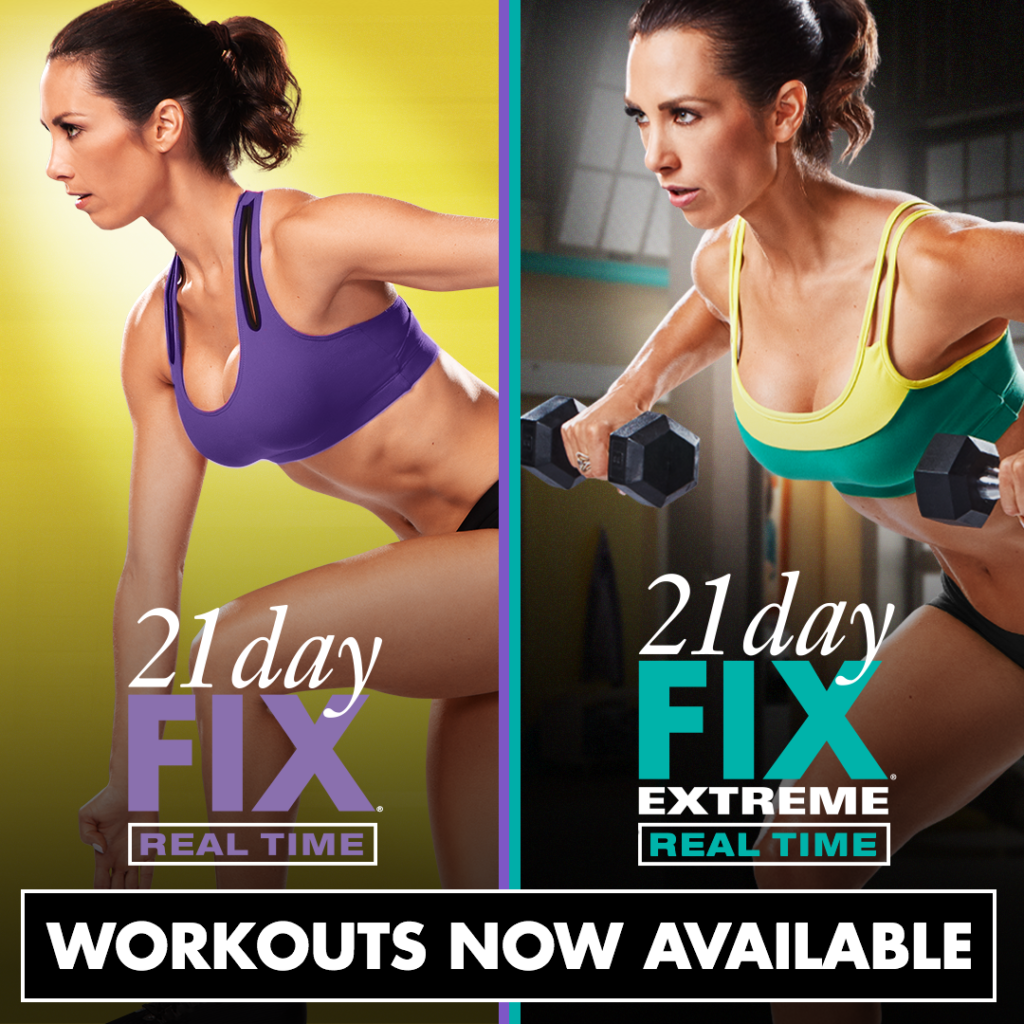 21 Day Fix and 21 Day Fix Extreme Real Time