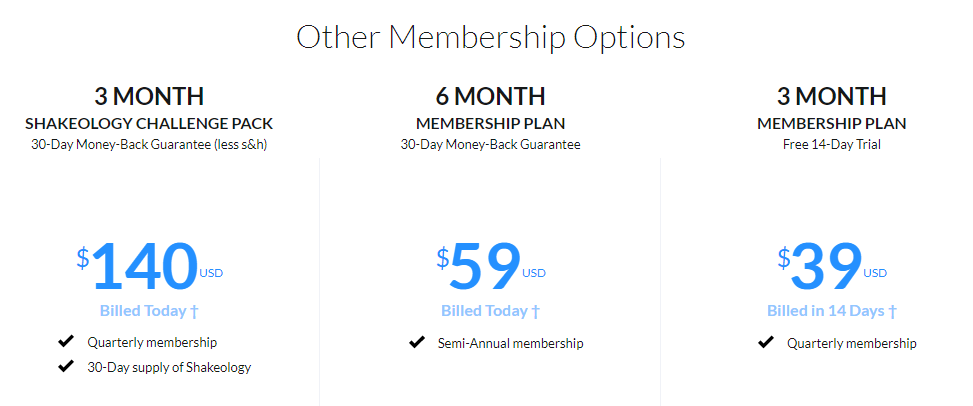 Beachbody On Demand Other Membership Options