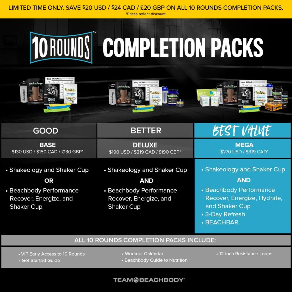 Special Offers on 10 Rounds Completion Packs