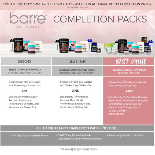 Barre Blend Completion Pack Comparison