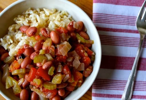 High fiber recipe for beans and rice