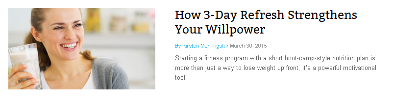 3 Day Refresh Strengthens Your Willpower