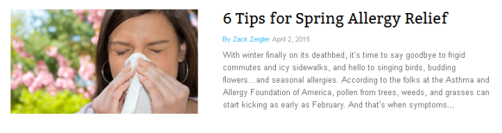 6 Tips for Spring Allergy Relief