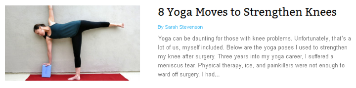 8 Yoga Moves to Strengthen Your Knees