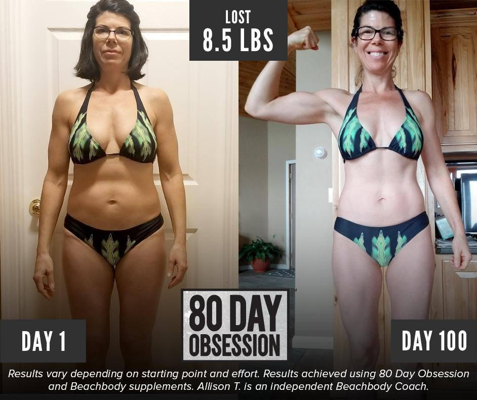 Allison Lost 8.5 Pounds with 80 Day Obsession