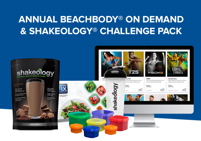 Annual Beachbody On Demand and Shakeology Challenge Pack