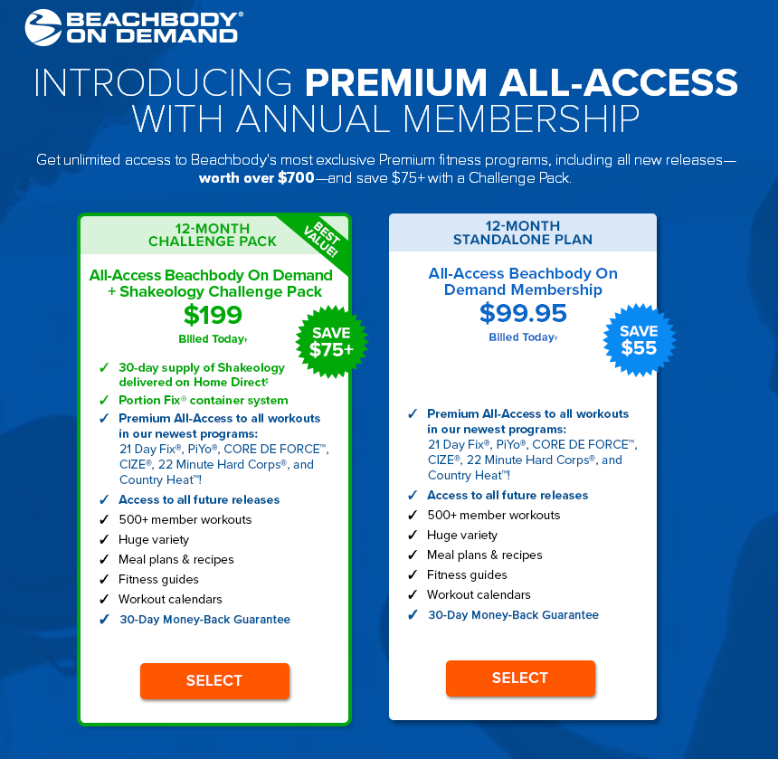 Annual All-Access Beachbody On Demand Membership