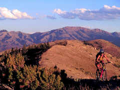 Mountain biking in the mountains