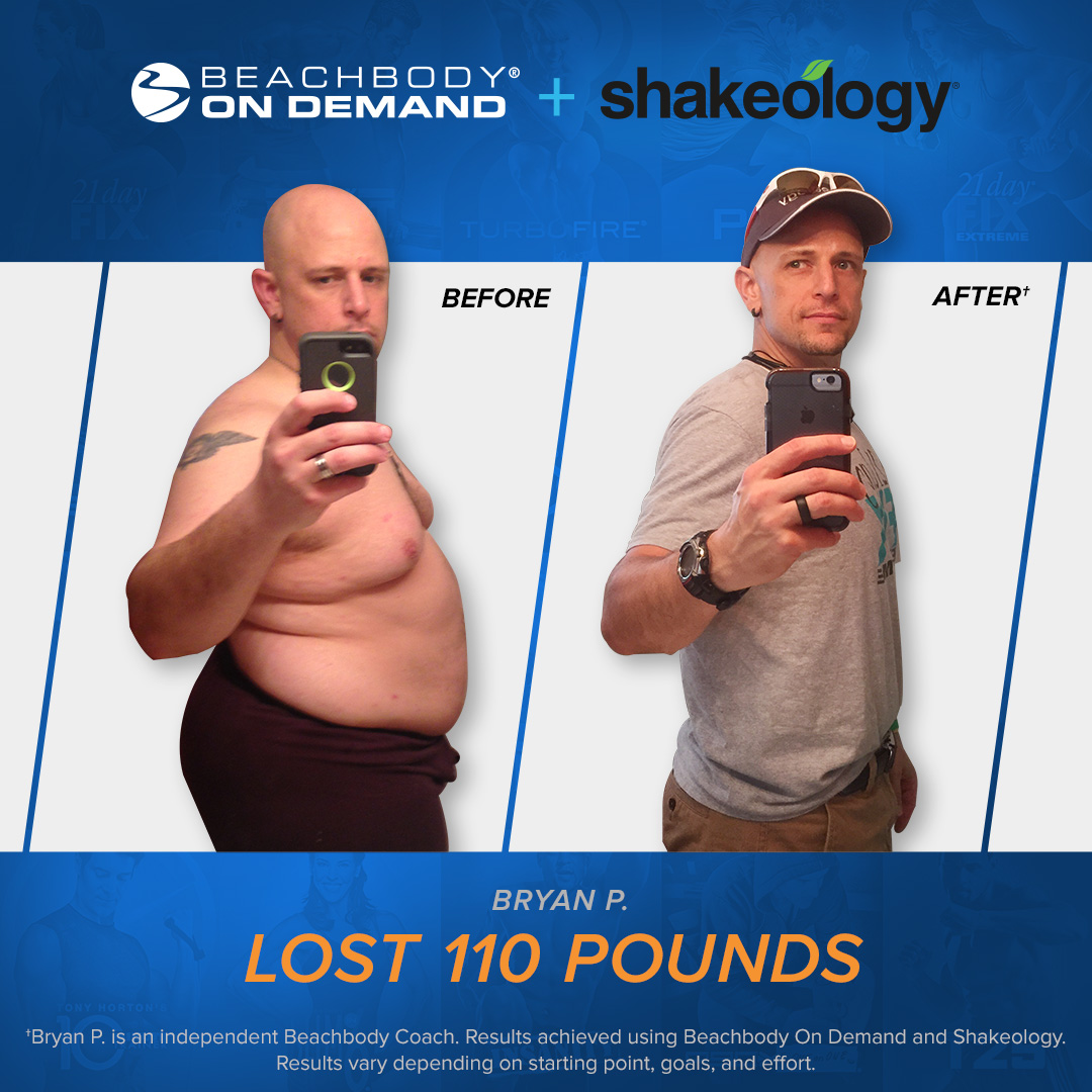 Bryan Lost 110 Pounds with Beachbody On Demand