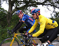 Davis Phinney with Lance Armstrong October 2003