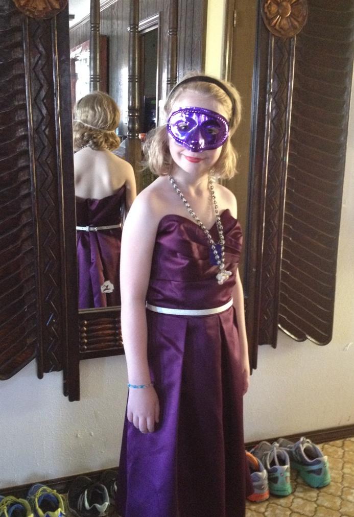 Grace is ready for Mardi Gras