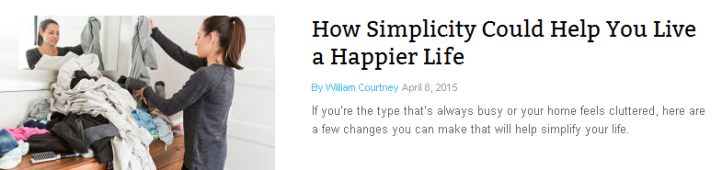 How Simplicity Could Help You Live a Happier Life