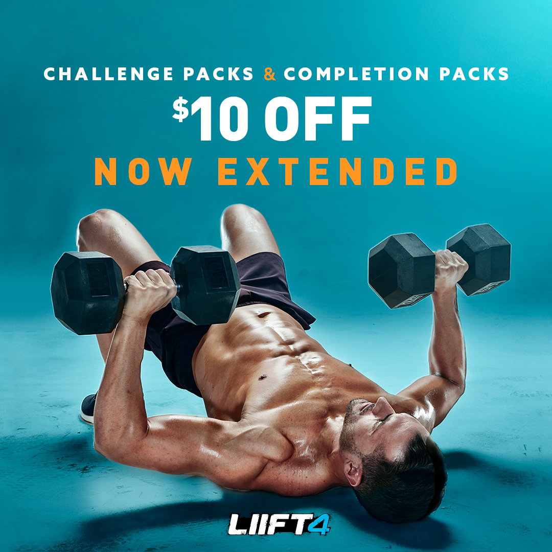 Save $10.00 on LIIFT4 Challenge Packs and Kits