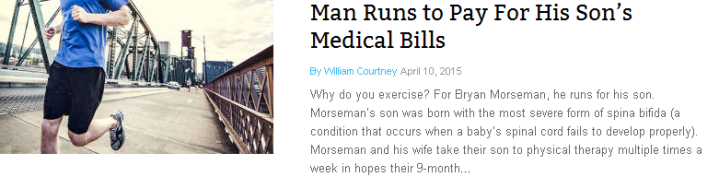 Man Runs to Pay for His Son's Medical Bills