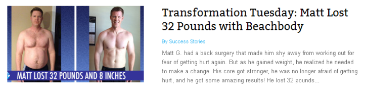 Matt Lost 32 Pounds with Beachbody