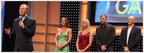 Beachbody CEO Carl Daikeler announces the 2007 Million Dollar Body Game winners.