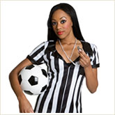 Woman in a Referee Costume