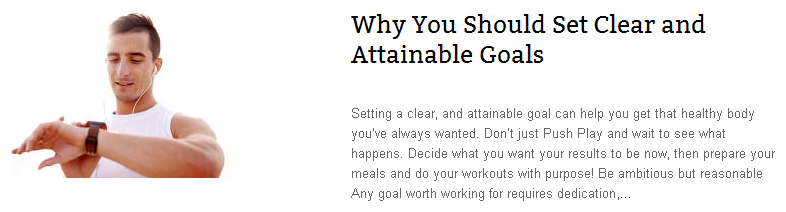Set Clear and Attainable Goals