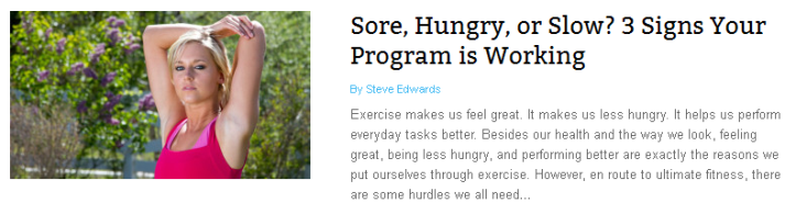 Sore, Hungry, Slow? 3 Signs Your Workout Program is Working