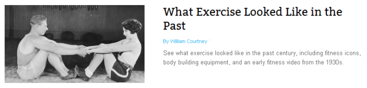 What Exercise Looked Like in the Past